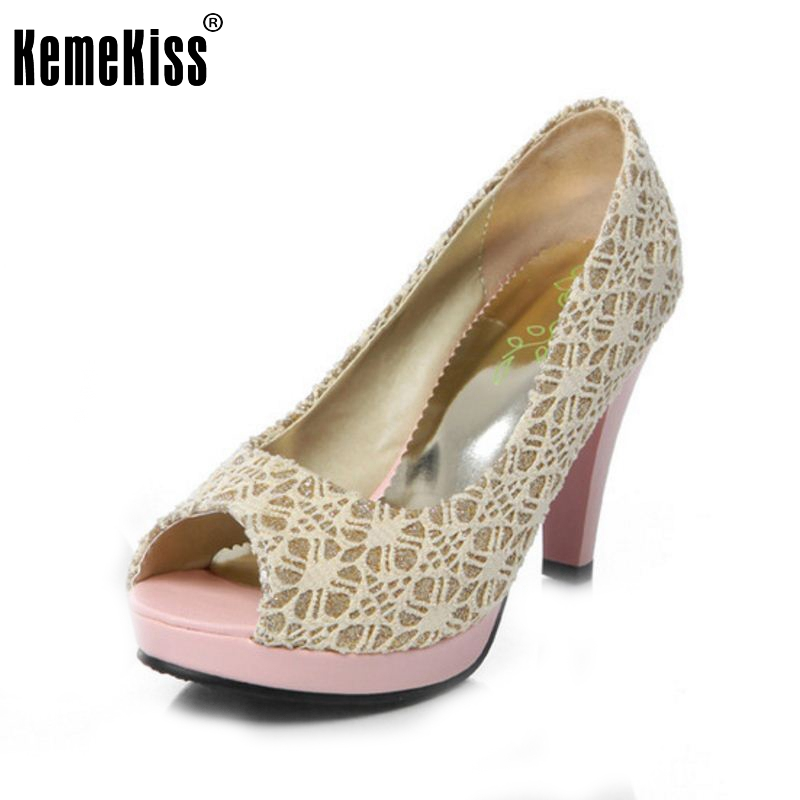 Wedding Shoes Woman Sexy Lace Summer Party Fashion Open Toe High Heels Platform Pumps Women High Heels Pumps Size 34-43 PA00523 big size 32 43 fashion party shoes woman sexy high heels platform summer pumps ankle strap sandals women shoes