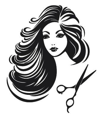 Hair Salon Girl Vinyl Wall Decal Sexy Beauty Shop Barbershop Sticker