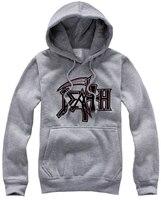 Death Metal Hoodies Fleece Rock Band Mens Hooded Sweatshirts 2016 New Fashion Plus Size Free Shipping