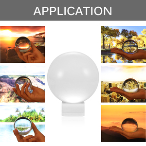 2020 HOT Klar Glas Kristall Ball Healing Kugel Fotografie Requisiten Lensball Decor Requisiten Foto Geschenk Für Outdoor Fotografie