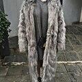 Mulheres Inverno da Pele Do Falso Casaco de Manga Longa Faux Pele De Raposa Outerwear do Inverno da Pele Quente Casaco Fofo Mulheres Estilo Longo Das Senhoras sobretudos