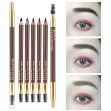 1PC Eyebrow Pencil Paint Tatoo Pen Eye Brow Tint Black Brown Pigments Natural Waterproof With Brush 5 color