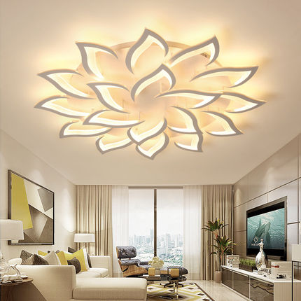 lustre led ceiling chandelier modern luxury lotus for living/dining room kitchen bedroom lamp art deco lighting fixtureslustre led ceiling chandelier modern luxury lotus for living/dining room kitchen bedroom lamp art deco lighting fixtures