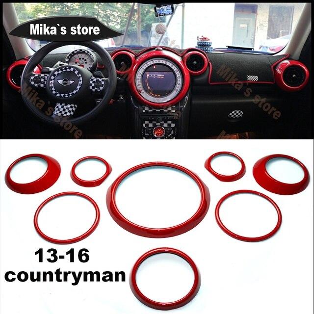 For Mini Cooper Countryman R60 Car Styling Inner Decoration Sticker Rings Center Dash Board L