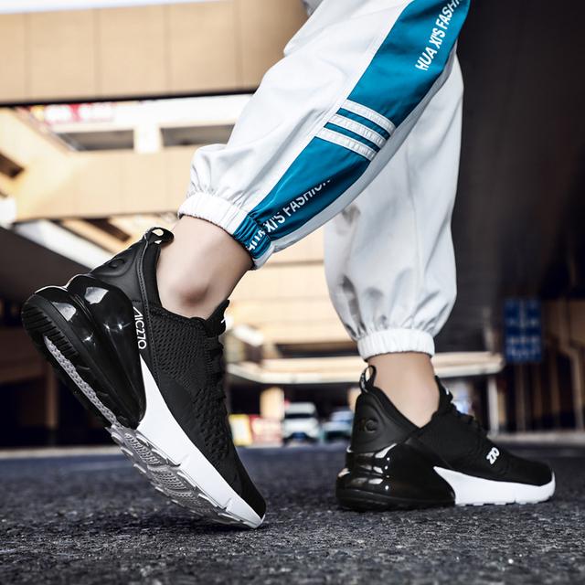 Zupełnie nowe buty do biegania dla mężczyzn poduszka powietrzna Mesh oddychająca odporna na ścieranie Hot 2019 fitness Trainer Sport buty męskie sneakers
