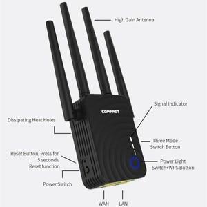 Image 5 - AC1200 ワイヤレス無線 Lan リピータデュアル 1200Mbps 4 外部アンテナの Wi Fi レンジエクステンダーの無線 Lan 信号アンプブースタールータ