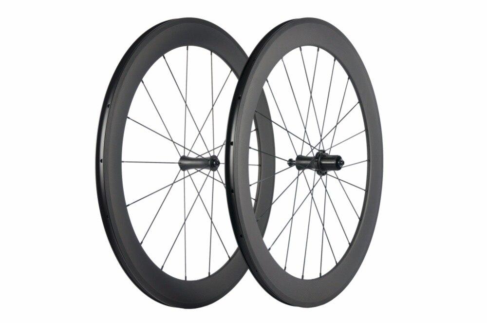 Суперкоманды углерода катки 60 мм довод 700C велосипед колесная с R7 прямо тянуть концентратор 18/21
