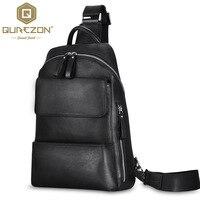 Qurezon бренд Пояса из натуральной кожи сумка Для мужчин слинг одного плеча Сумки через плечо для человека вестник Повседневное кожаная сумка