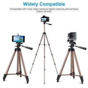 Image 2 - Universal Portable Tripod Lightweight Camera Tripod For Mobile Phone Professional Tripod For Canon Sony Nikon Camera SmartPhone