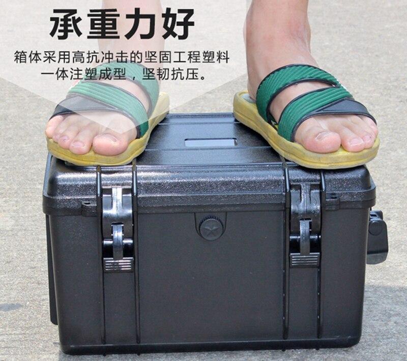 350*290*207 мм Водонепроницаемый случае инструмент Toolbox защитный Камера корпусом прибора окне чемодан ударопрочный с предварительно -cut пены