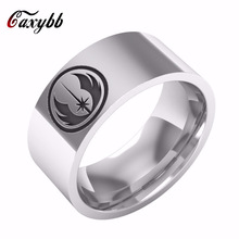 Star Wars Jedi Symbol Engraved Ring Ring High Polished Stainless Steel Jewelry Best Gift For Fans of Star Wars