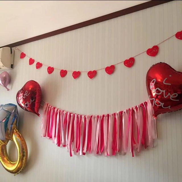 Aliexpresscom Buy Romantic Baby Shower Party Garland Hot Pink