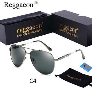 3d7c46889f4 reggaeon 2018 Polarized Sunglasses Men Vintage Sun Glasses
