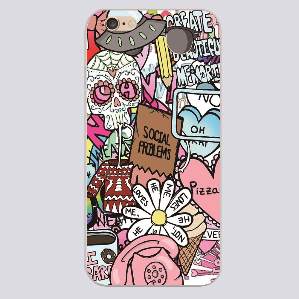 New arrived tumblr collage that i made design white skin for Cell phone cover design ideas