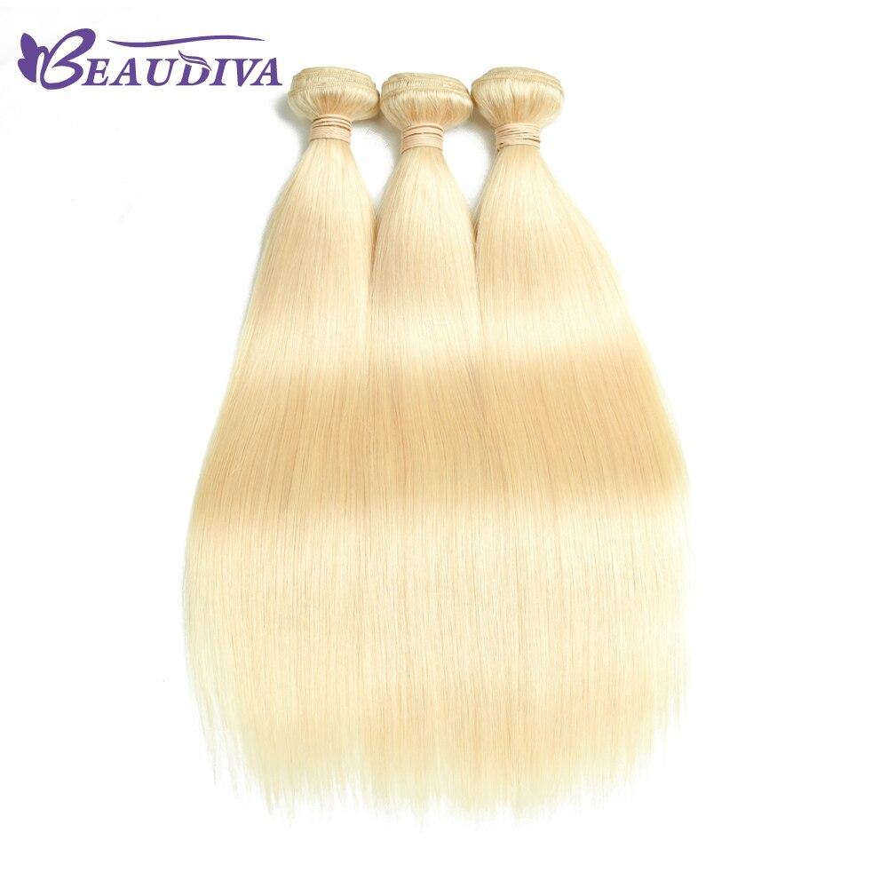 BeauDiva прямо Малайзии 3 пучки волос 613 светлый блондин Цвет не Реми 100% Пряди человеческих волос для наращивания 10-26 дюймов best продажи