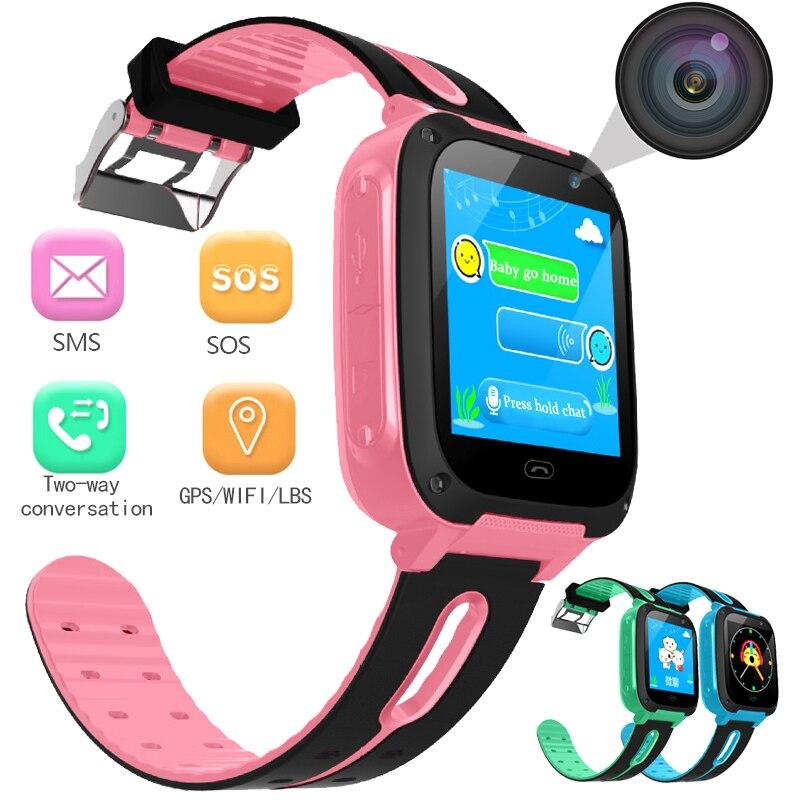 BANGWEI Anti Perdu OLED Enfant GPS Tracker SOS Surveillance Intelligente Positionnement Enfants Montre Smart Watch Téléphone Compatible avec IOS et Android