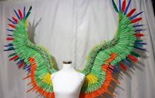 Взрослых красочные крылья ангела перо фотографии дефиле праздничная одежда серии отображает съемки реквизит Cos костюм