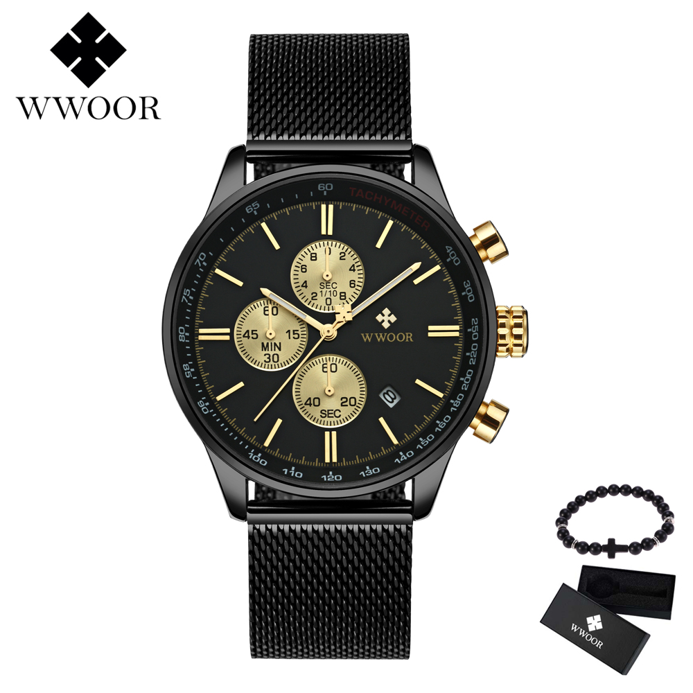 Relogio Masculino WWOOR Luxury Brand Military Sport Watch Mens Quartz Clock Male Mesh Steel Casual Business Chronograph watchRelogio Masculino WWOOR Luxury Brand Military Sport Watch Mens Quartz Clock Male Mesh Steel Casual Business Chronograph watch
