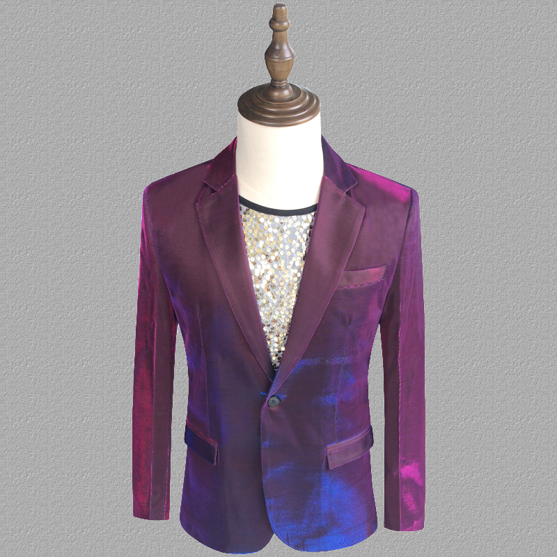 Purple Blazer Men Suits Designs Jacket Mens Stage Costumes For Singers Clothes Dance Star Style Dress Punk Rock Masculino Homme