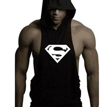 Men Gyms Fitness Tank Tops Hoodie Sleeveless Undershirt