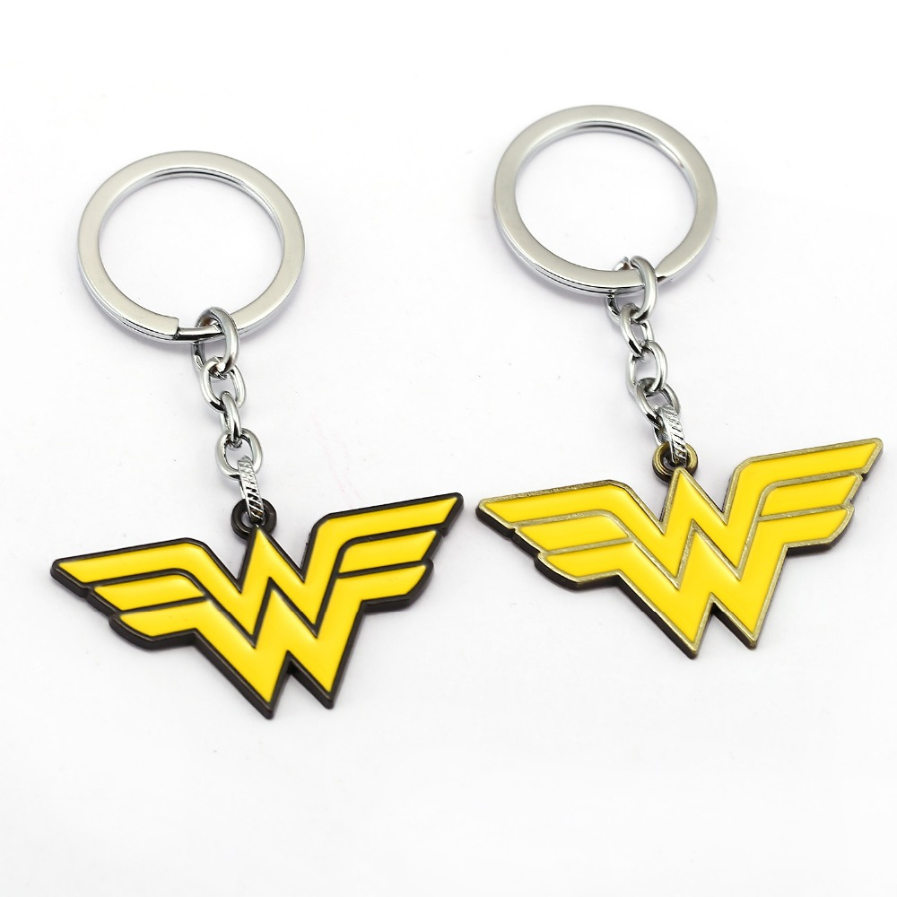 Flash Painted Bolt Pewter Keychain Yellow