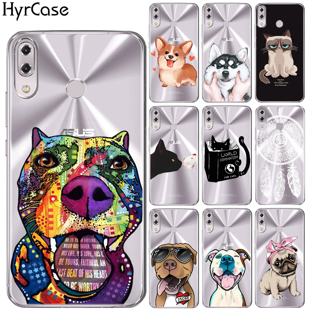 Funny Cute Cartoon Cat Soft TPU Case For <font><b>Asus</b></font> <font><b>Zenfone</b></font> <font><b>5</b></font> <font><b>ZE620KL</b></font> Dog Floral Silicon Back Cover For Coque <font><b>Asus</b></font> <font><b>ZE620KL</b></font> image