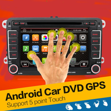 Quad Core android 4.4 car dvd player For VW Skoda POLO GOLF 5 6 PASSAT CC JETTA TIGUAN TOURAN Fabia Caddy car gps 2 two din