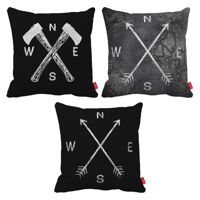 Crossed Ethnic Arrows Tribal Ornament Boho Hippie Print Decorative Throw Pillowcase Pillow Case Cushion Cover Sofa Home Decor