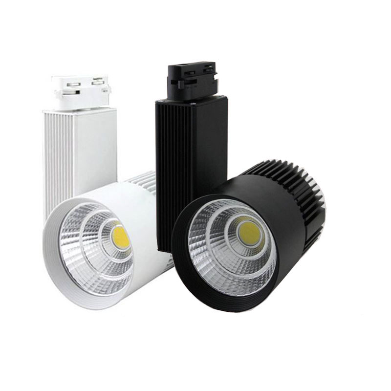 10X New design 30W 30degree COB LED track light with bridgelux chip AC 85-265V input express free shipping led track light50wled exhibition hall cob track light to shoot the light clothing store to shoot the light window