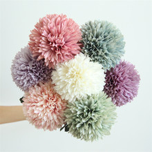 Dandelion Flower Ball Pompom Simulation Artificial Hydrange Christmas Decor Wedding Holding Home Party Decoration