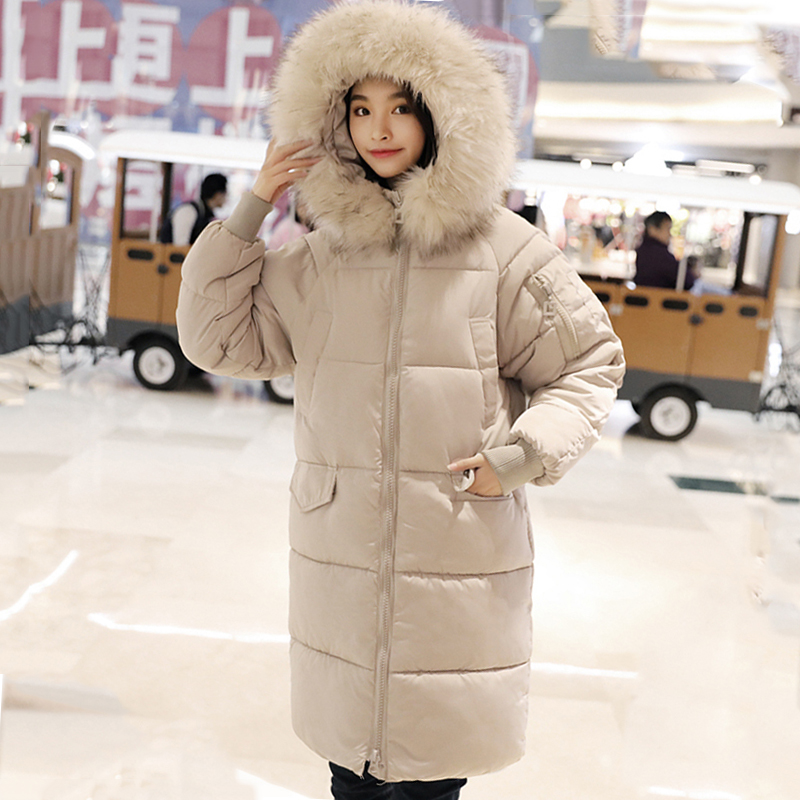 High Quality 2019 New Winter Jacket Women With Thicken Fur Hooded Warm Coat Outwear Padded Snow Wear Long Womens   Parka     Parkas