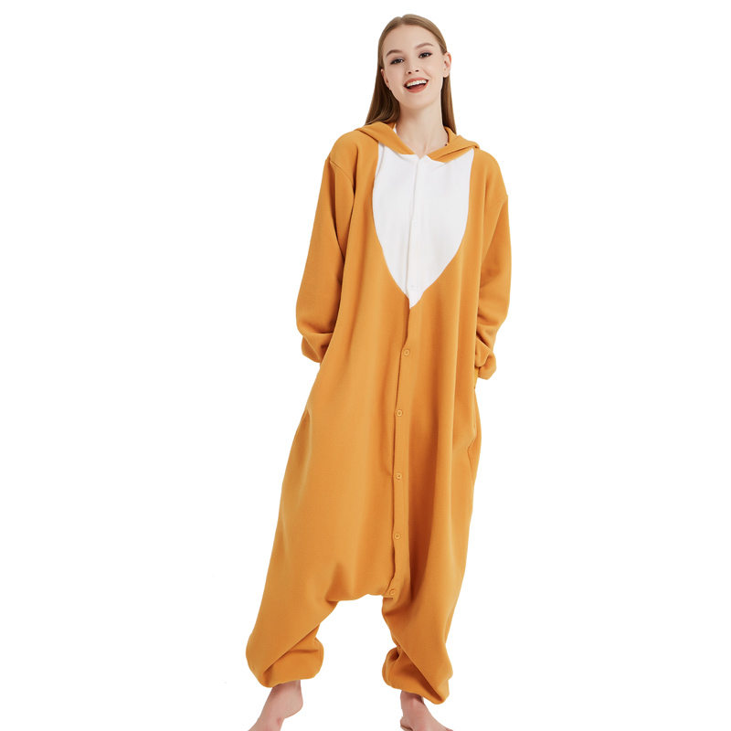 Funny Christmas Elk Kigurumi Onesie Animal Deer Jumpsuit Sleepwear Adult Pajamas Polar Fleece For Halloween Pyjamas Home Party (4)