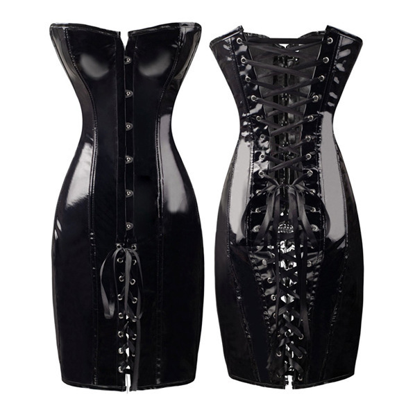 PVC Leather Corset Bustier