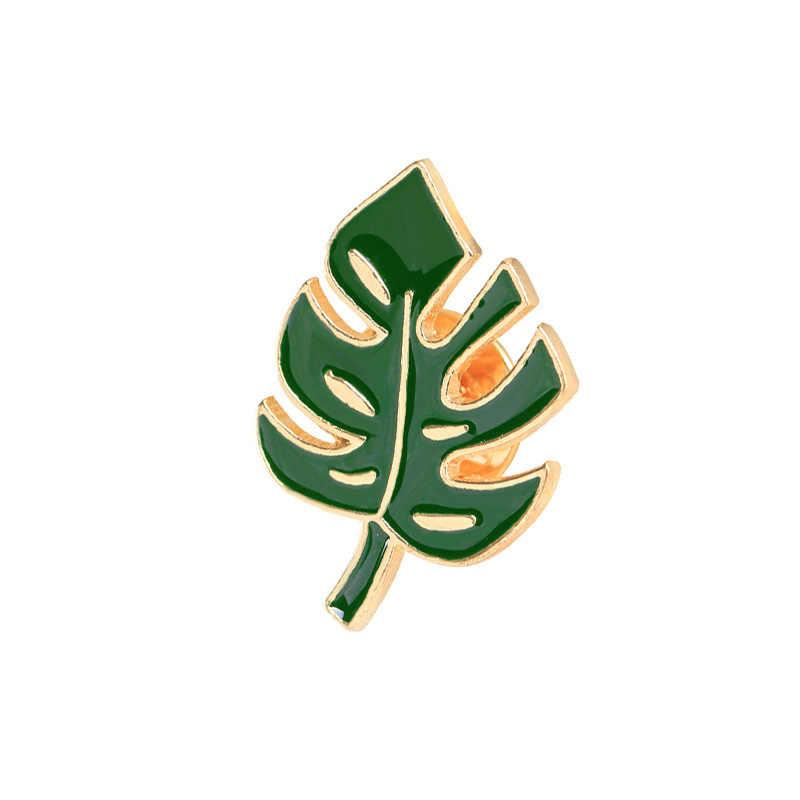 Новая мода мультфильм зеленый растений броши для Для женщин дети кактус лист Брошь ювелирные изделия значок в виде хиджаба вечерние подарки аксессуары