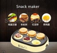 Elektrikli yumurta kavrulmuş hamburger makinesi kırmızı fasulye kek pasta makinesi MINI kahvaltı gözleme pişirme krep kızarmış yumurta kızartma tavası