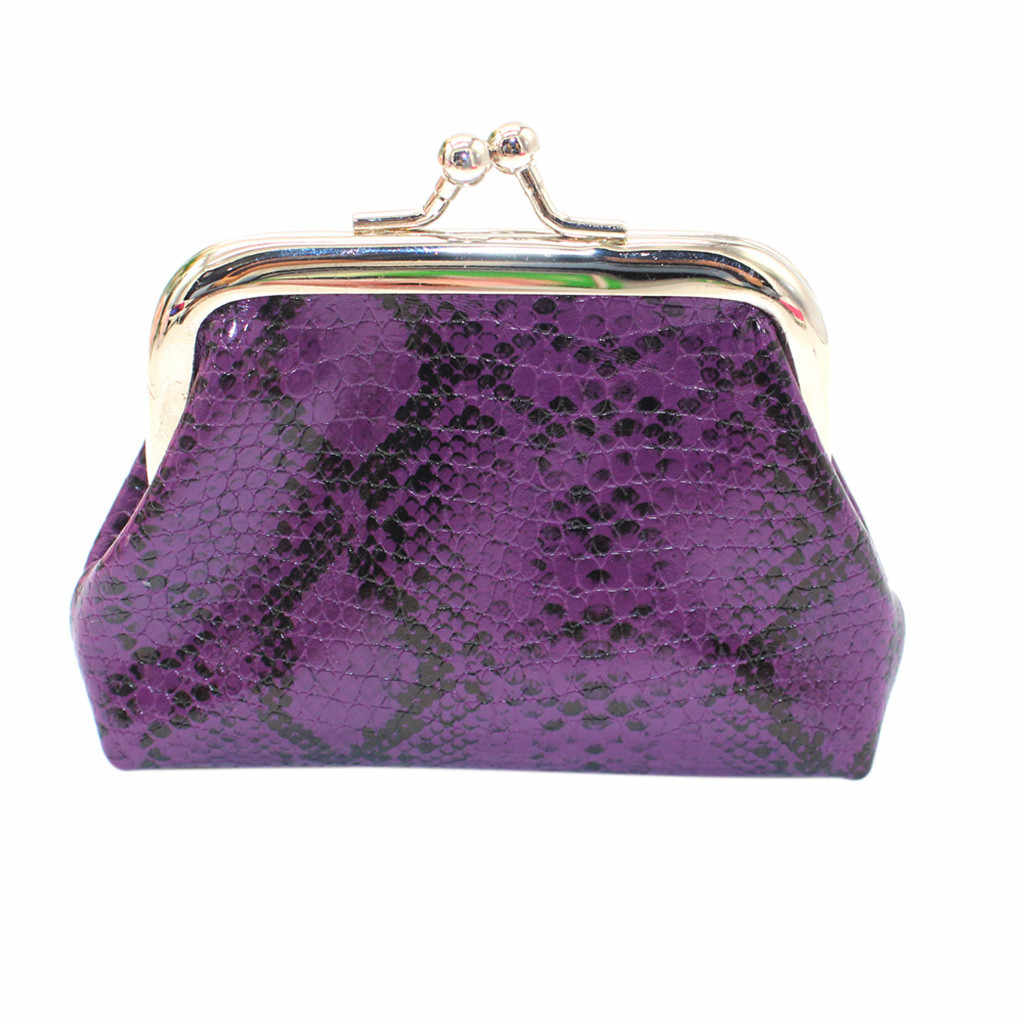 Ocardian Fashion Wanita dan Wanita Retro Printing Makanan Ringan Kualitas Tinggi Kulit Dompet Mini Koin Kartu Pemegang Dompet Mujer A24
