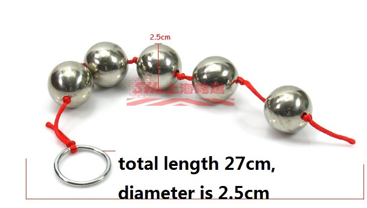 Нарисуйте шарик нержавеющая сталь секс-игрушки пять целей g-пятно дворе анальный анальную стали Anal Plug нержавеющей стали анальный пенис