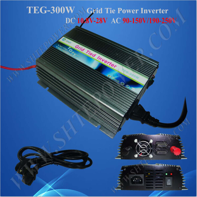 Anti-Island protection solar 10.8-30v inverter 300w on grid with <font><b>fan</b></font> cooling image