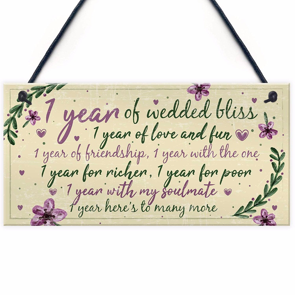 One Year Wedding Anniversary Gifts For Her: Meijiafei 1st Wedding Anniversary Card Gift For Husband