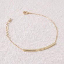 10pcs/1lot B013 Stainless Steel Chain Pulseras Ginger Snaps Long Square 18k Gold Plated Silver Bar Kors Bracelet