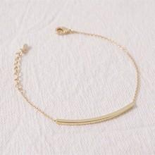DIANSHANGKAITUOZHE Stainless Steel Chain Pulseras Ginger Snaps Long Square 18k Gold Plated Silver Bar Kors Bracelet B013 10pcs