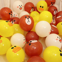 hot deal buy 100pcs animal helium latex ballons cartoon looney ballons children classic toys balloon brown bear rabbit duck wedding birthday