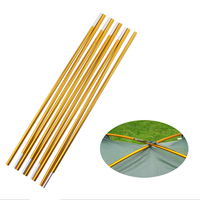 2pcs/set 3.3m High quality Camping Tent Pole Aluminum Alloy Tent Support Spare Replacement Tent Rod Tent Accessories