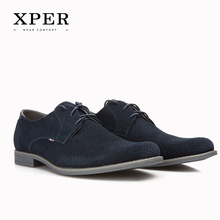 Size 40~46 Brand XPER Casual Men Lace-Up Dress Shoes Wear Comfortable Men Wedding Shoes #YWD831BU/BL