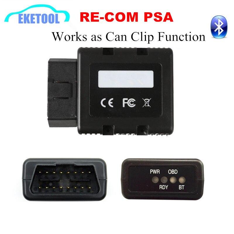 Re COM Interface Bluetooth Para Renault OBD Diagnostic & Multi-Linguagem de Programação RE-COM Substituir Pode Grampear a Mesma Função
