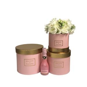 Image 4 - Złoty kolor okładka okrągły kwiaciarnia kwiat pudło do pakowania 2020 nowy projekt świąteczny prezent na święto dziękczynienia pudełko, walentynki pudełeczko prezentowe