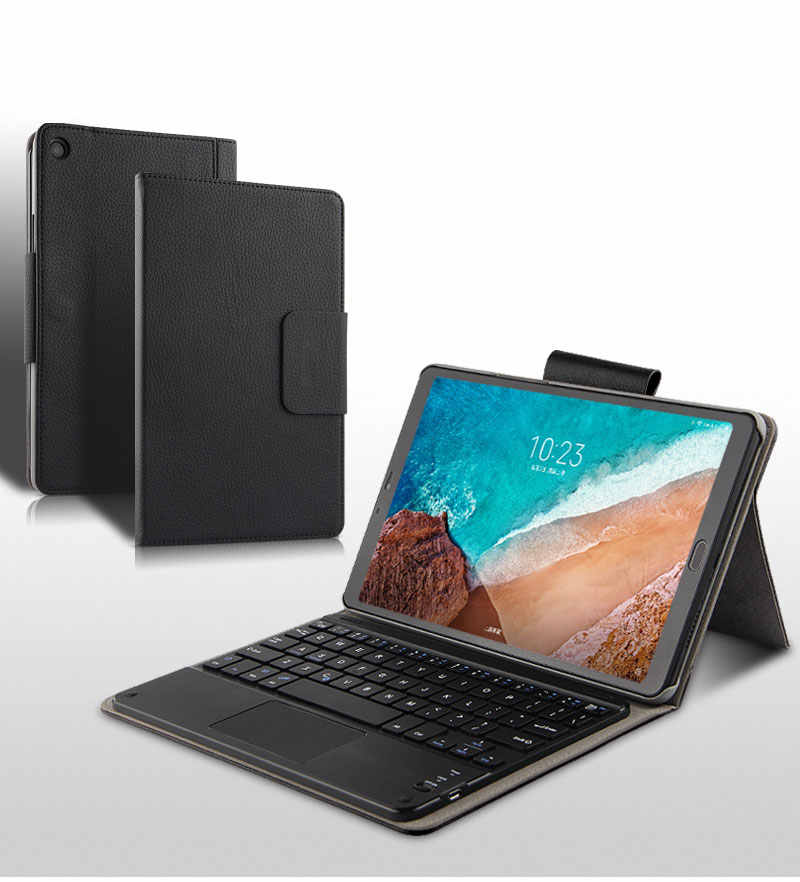 "PU Leather Wireless Bluetooth keyboard Case For Xiaomi Mi Pad 4 Plus MiPad4plus 10.1""Protective Cover MiPad4 Plus 10"" Tablet"