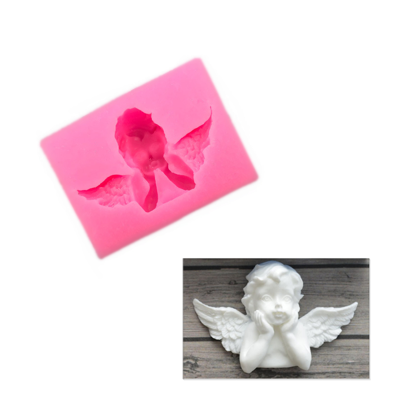 3D Angel Silicone Mold Chocolate Candy Cake Fondant Soap Pastry Baking Mold