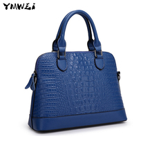 Female bag brand new cow leather bag European and American fashion leather ms shell bag portable oblique cross bag
