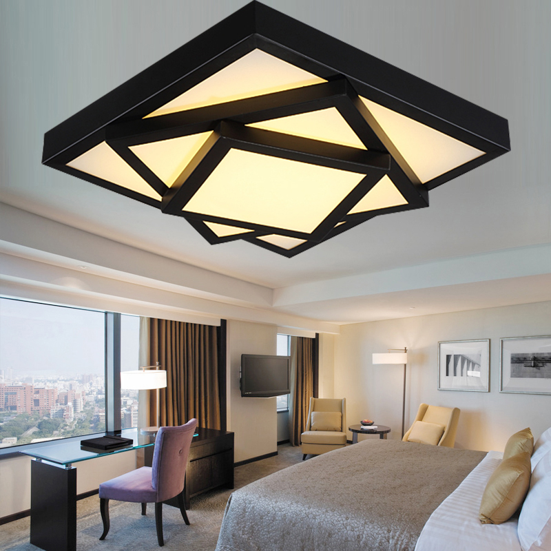 led ceiling lights fixture lighting luminaire modern  lamps lamparas de techo for living room bedroom foyer acrylic kitchen lamp factory out modern led ceiling lights minimalism geometric iron luminaire ceiling lamp bedroom living room foyer dining room